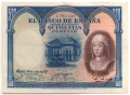 Billetes de Alfonso XIII en la II República