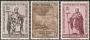 Serie sellos Vaticano 0387-89.Apostolado Santos Cirilo y Metodio
