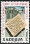 Serie sellos Andorra 099. Festival literario. Catedral de Urgel