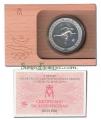 Año 1990. MONEDA PLATA 2000 ptas FDC. Barcelona 92. Atleta