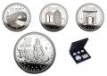 Año 2007. Juego de 4 Monedas 10 y 50 euros. V Aniversario Euro