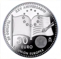 Año 2017. Moneda 30€ Felipe VI - Union Europea