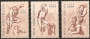 Serie sellos Vaticano Aéreo 60-62