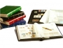 Clasificador sellos Basic 16 pags. Cartón blanco.Bandas brillant