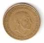 Moneda 001 peseta 1966 *67 .MBC.DESCENTRADA