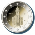 Moneda 2 euros Alemania 2015 San Pablo. Juego 5 monedas (A,D,F,G