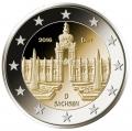 Moneda 2 euros Alemania 2016 - Sachsen. Juego 5 Cecas