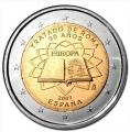 Moneda 2 euros de España (2007 - Tratado Roma)