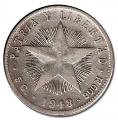 Moneda Cuba 0,20 Centavos 1948 MBC+