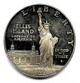Moneda EE.UU. 1 dolar 1986. Plata Proof