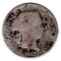 Moneda España Isabel II 4 Reales Madrid 1863 RC