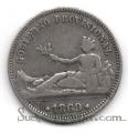 Moneda Gobierno Provisional 01 peseta 1869 (SNM) .MBC-