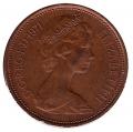 Moneda Gran Bretaña 02 NEW PENCE 1971 Isabel II MBC