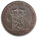 Moneda Holanda - Antillas 1 Gulden 1952 MBC