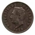 Moneda República de El Salvador  0,05  Centavos 1921 BC
