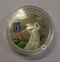 Moneda coloreada de golf (Islas Cook). Valor de 5 dólares.