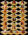 Serie Vitolas Alvaro. Mujeres Religion. 25 Vitolas