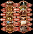 Serie Vitolas Capote. Vistas de Granada. 12 Vitolinas
