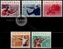 Serie de sellos Albania deportes Nº 0760/64 (**)