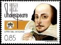 Serie sellos Vaticano 1674. William Shakespeare