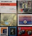 Suplemento 2016 sellos España (solo sellos y HB). Montado