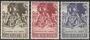 Serie sellos Vaticano 0284-86.Navidad