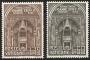 Serie sellos Vaticano 0287-88. Inauguración Sínodo Romano