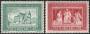 Serie sellos Vaticano 0413-14. V Cent. muerte Cardenal Cusani