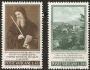 Serie sellos Vaticano 0432-33. San Benito Patrono de Europa