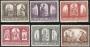 Serie sellos Vaticano 0451-56. Conversión Polonia a Cristianismo