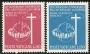 Serie sellos Vaticano 0471-72. III Congreso Apostolado Laicos