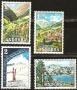 Serie sellos Andorra 073-76. Paisajes