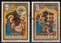 Serie sellos Andorra 087-88.Navidad.Retablo Ntra. Sra. Meritxell