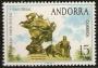 Serie sellos Andorra 093. Centenario de la U.P.U.