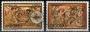 Serie sellos Andorra 094-95. Navidad. Retablo barroco