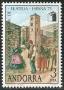 Serie sellos Andorra 096. Exp. Mundial Filatelia ESPAÑA'75