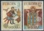 Serie sellos Andorra 097-98. Europa