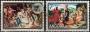 Serie sellos Andorra 100-01. Navidad. Pinturas barrocas Ordino