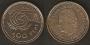 Moneda. 100 pesetas S/C (flor hacia reverso)