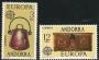 Serie sellos Andorra 102-03. Europa