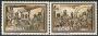 Serie sellos Andorra 106-07. Navidad. Pinturas iglesia Massana