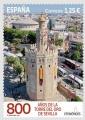 33. Sello 800 Aniversario Torre del Oro