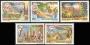 Serie sellos Vaticano Aéreo 83-87. Viajes del Papa