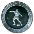 Año 1990. MONEDA PLATA 2000 ptas FDC. Barcelona 92. Futbol
