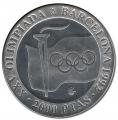 Año 1991. MONEDA PLATA 2000 pts FDC. Barcelona92. Llama Olímpica