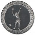 Año 1991. MONEDA PLATA 2000 pts FDC. Barcelona92. Tenis