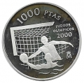 Año 1999. MONEDA PLATA 1000 ptas PROOF. JJOO 2000 Waterpolo