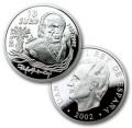 Año 2002. Moneda 10 Euros Rafael Alberti. Plata PROOF