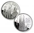 Año 2002. Moneda 50 euros. Gaudi - Sagrada Familia