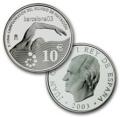 Año 2003. Moneda 10 euros. Campeonato de Natación 2003